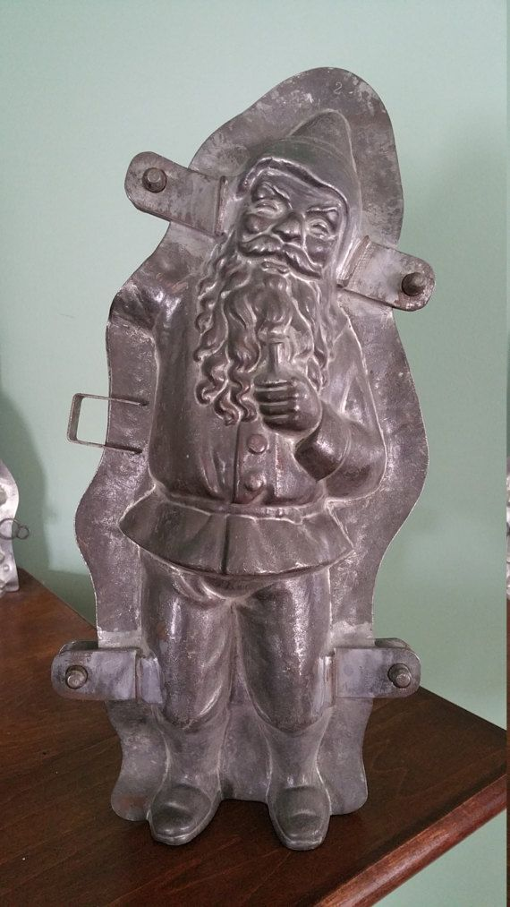 Rare DISPLAY German Santa Antique Chocolate by VictorianChocMolds