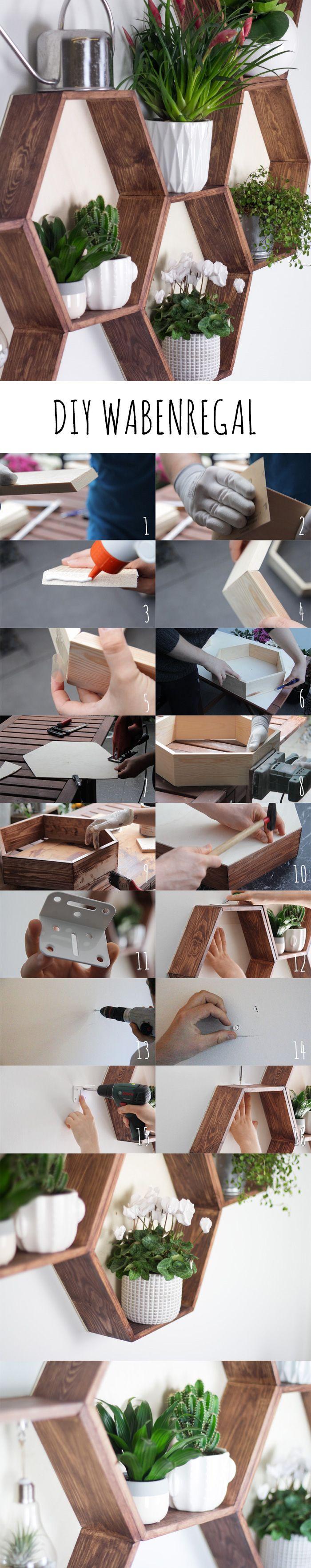DIY Wabenregal. Möbel ganz leicht selbermachen mit dieser Anleitung!