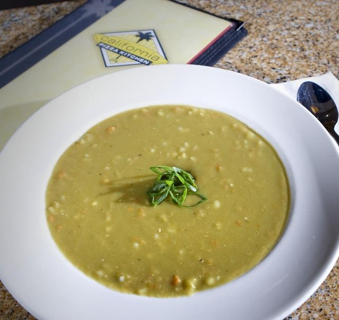 CPK Dakota Smashed Pea and Barley Soup - delicious!!
