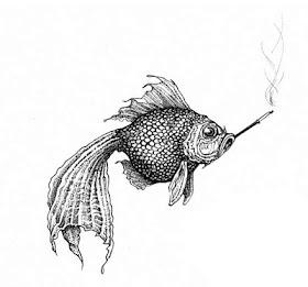 Rory Dobner's Smoky Fish Intricate Ink Illustration!