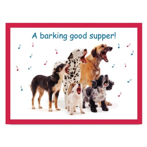 Deska do krojenia szklana Barking Good Supper!
