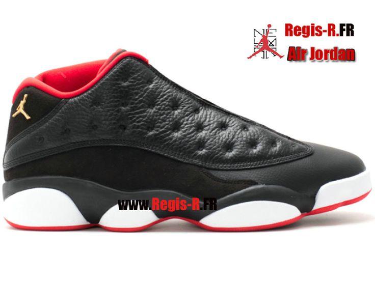 """Air Jordan 13 Retro Low """"Bred"""" - Chaussures Basket Jordan Pas Cher Pour Homme Noir/Blanc/Rouge 310810-027"""