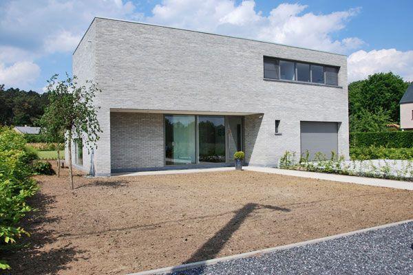 Project veva ngezinswoning langdorp 2007 sven dezittere architect gevelsteen - Deco moderne woning ...