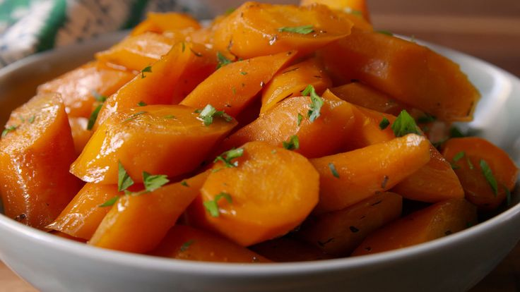 Brown Butter Carrots - perfect for Easter morning.  Set the crockpot, go to church & come home to a finished veggie.
