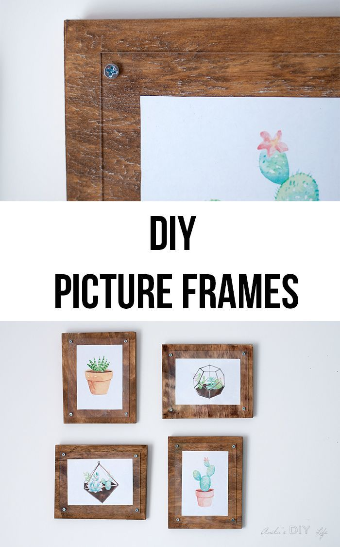 How To Make A Simple Photo Frame Diy Frame Diy Picture Frames