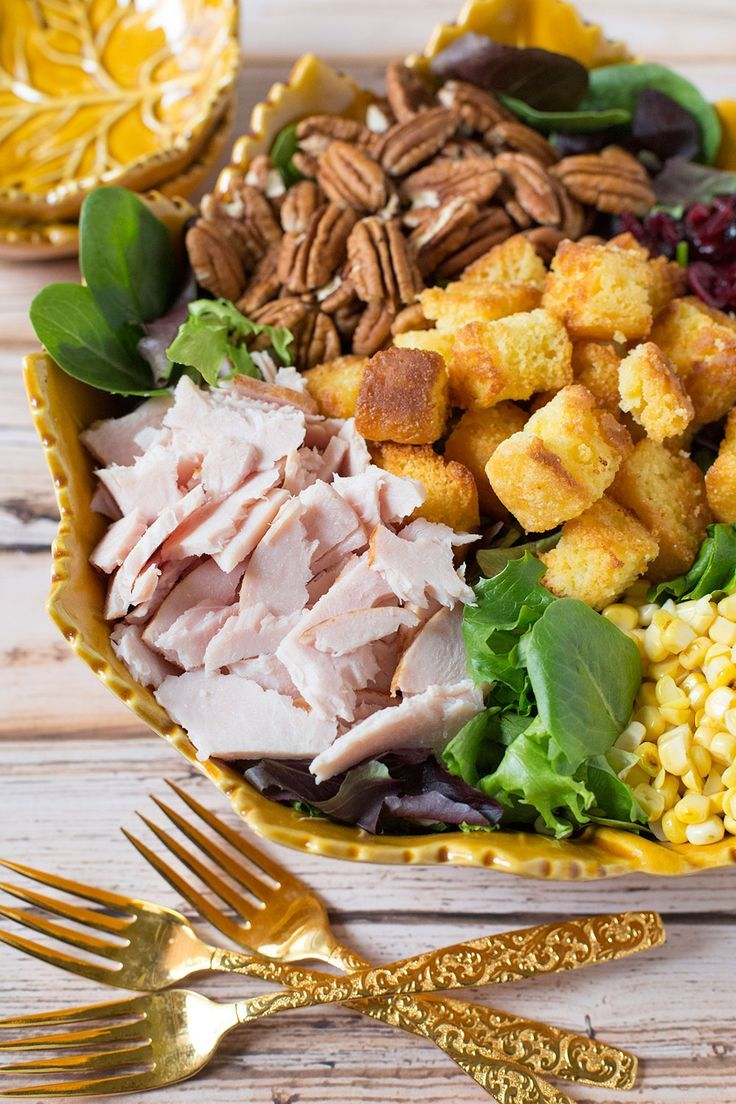Leftover Thanksgiving Salad is the perfect recipe for using up leftovers without sacrificing flavor! It's healthy and delicious!