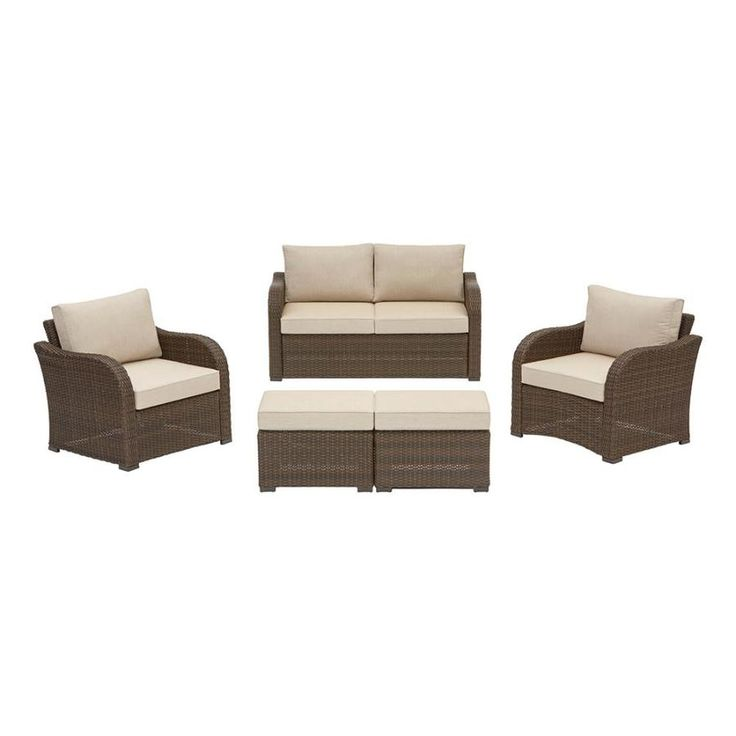 Northborough 5-Piece Aluminum Frame Patio Conversation Set with Cast Ash Sunbrella Cushions $798 on sale until 3/14/18