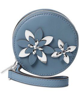 a89a5c40e989ee Michael Kors Circle Floral Flower Round Blue Wristlet in Denim - Sale! Up  to 75% OFF! Shop at Stylizio for women's and men's designer handbags, ...