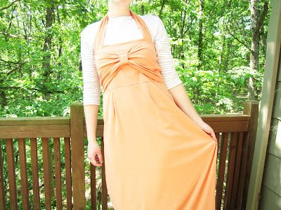 Super Cute!    mama says sew: Bow Front Maxi Dress