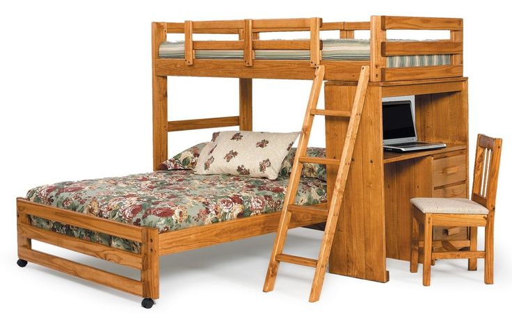 Twin Over Full L Shaped Bunk Bed Bunk Bed Twins And Desks
