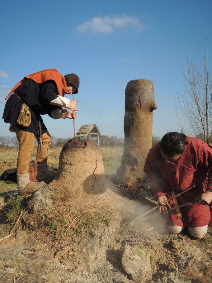IJzer maken op prehistorische wijze