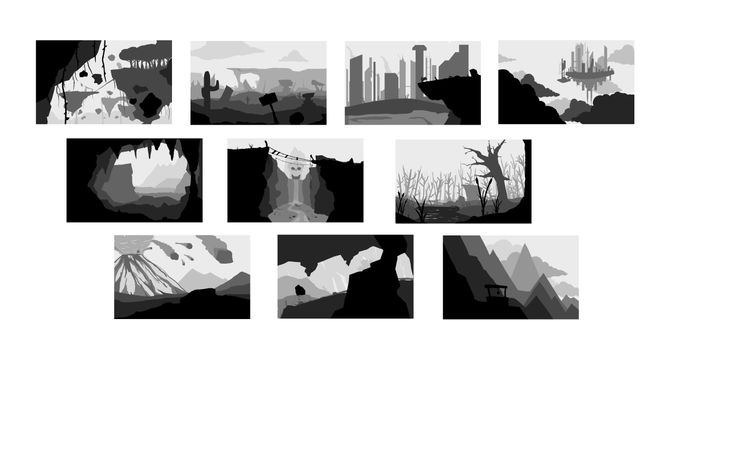 10 horizontal landscapes