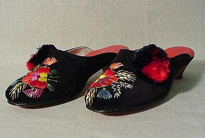 Szegedi papucs - fekete