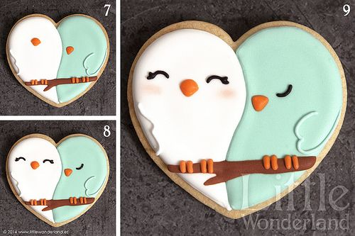 little wonderland - Galletas decoradas 8: Decoración de una galleta / Cookie decorating 8: Decorating a cookie