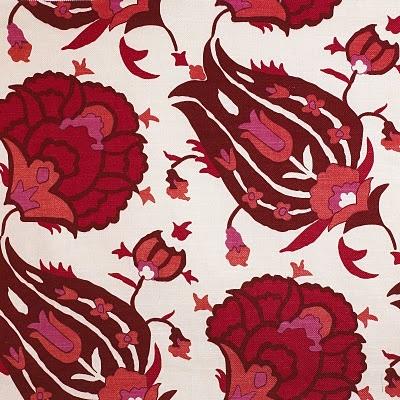 original David Hicks design inspired by a silk caftan in Topkapi Palace