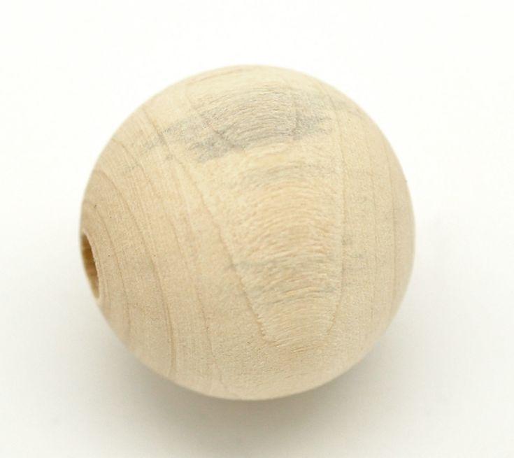 30 ks dřevěné korále