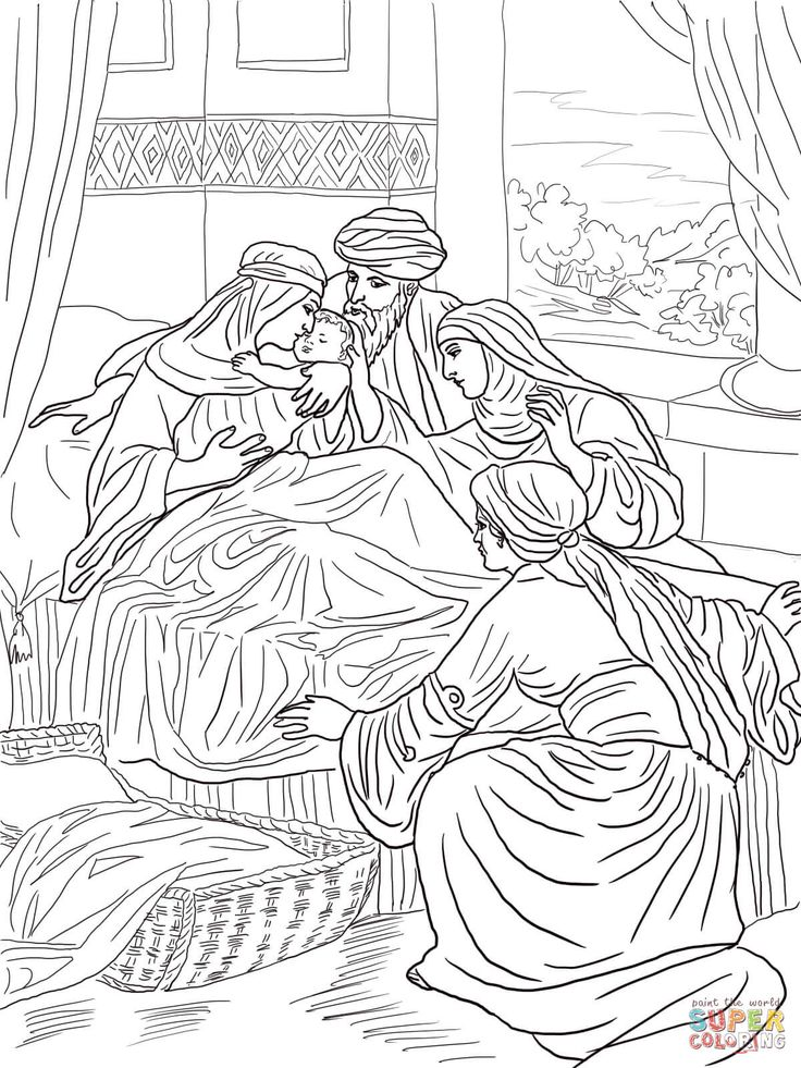The Birth of John the Baptist coloring page Free Printable ...