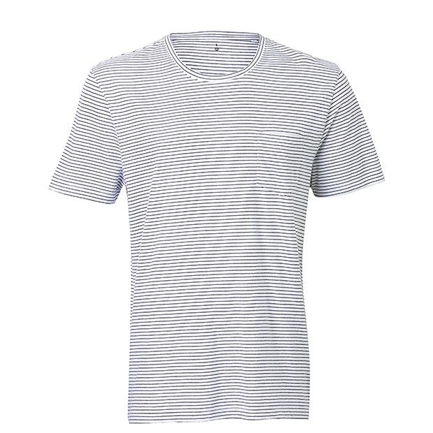 Give your wardrobe basics a stylish update with the mens micro tee. Crafted in a cotton rich compostition, featuring round neck line and single chest pocket. Best styled with denim or chinos for a complete look.