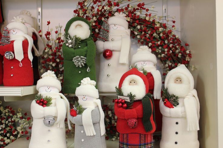 Hearts and Ivy collectable snowmen and santas. Find them in our Christmas Shop at River Hill Garden Center. riverhillgardencenter.com