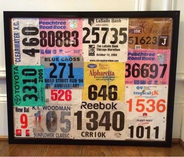 A Blessed and Blissful Life: How to Frame Race Bibs!