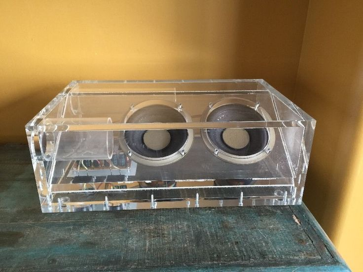 Lucite Bose Acoustimass Subwoofer Speaker Bass Box Home