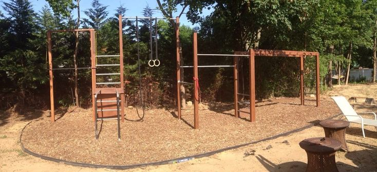 Backyard Gymnastics Bars : Meer dan 1000 idee?n over Backyard Gym op Pinterest  Buiten Gym