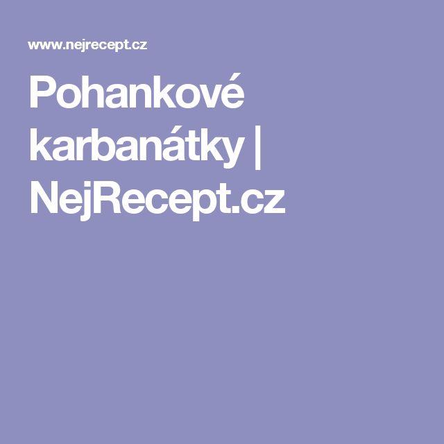 Pohankové karbanátky | NejRecept.cz