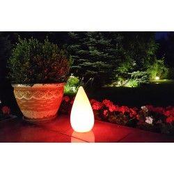 Figura dekoracyjna LED - KROPLA WODY LED RGB na zewnątrz INDUKCYJNA