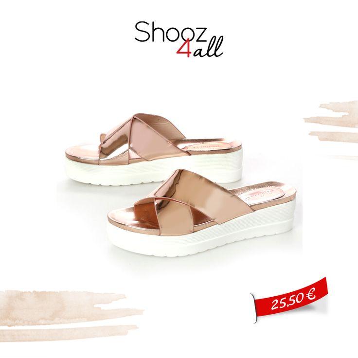 Flatforms σανδάλια σε pink gold χρώμα! http://www.shooz4all.com/el/gynaikeia-papoutsia/sandalia/flatforms-sandalia-se-pink-gold-xroma-sa16-586-detail #shooz4all #pink #gold #sandalia