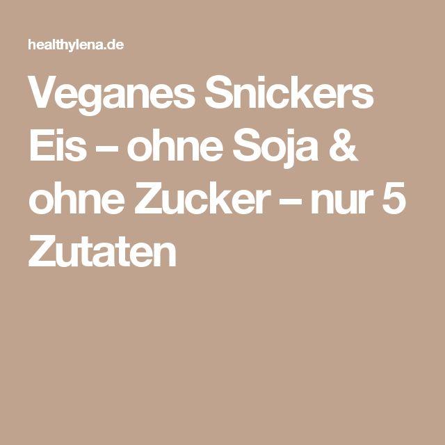 Veganes Snickers Eis – ohne Soja & ohne Zucker – nur 5 Zutaten