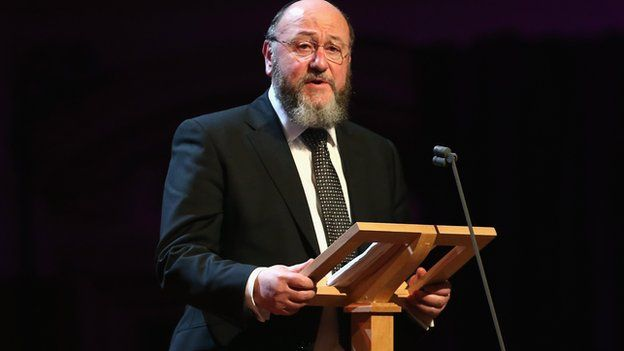 Chief Rabbi Ephraim Mirvis. Ban racists from social media, anti-Semitism report says. Social media users who spread racial hatred should be banned from sites such as Twitter and Facebook, MPs say. The All-Party Parliamentary Inquiry into anti-Semitism wants prosecutors to examine whether prevention orders like those used to restrict sex offenders' internet access could be used. The cross-party group also highlighted the use of anti-Semitic terms online. Last week, a Community Security…