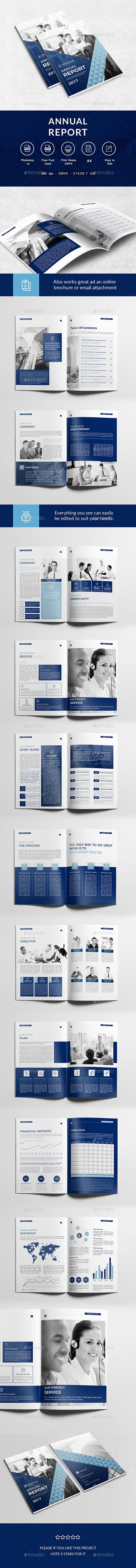 Buy Annual Report Template By AlfaresIT On GraphicRiver. Annual Report  Template Professional, Clean And Modern 22 Page Corporate Brochure.