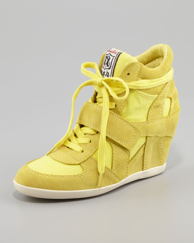 http://ncrni.com/ash-bowie-suede-canvas-wedge-sneaker-yellow-p-15080.html