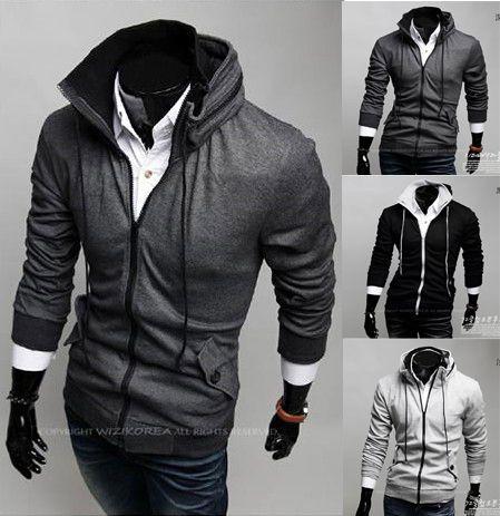 Мужчины осеннее пальто лучший бренд мужской куртки, мужские горячие толстовки пальто хлопка пальто мужчины Zip толстовки жакеты пальто многоцветный