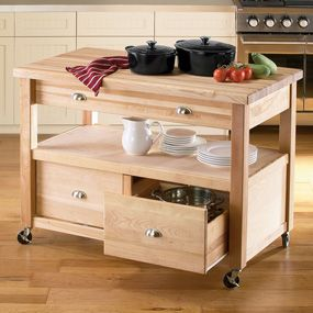 Work Table Kitchen Island | Home U003e Catskill Craftsmen Americana Kitchen  Island U0026 Work Center