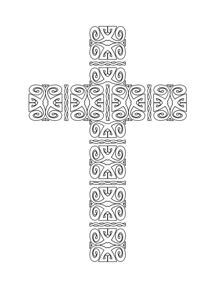 50+ Cross coloring pages to print inspirations