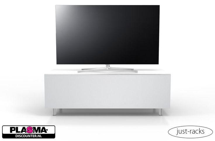 Just-Racks JRL1101S-SNG  Description: Just-Racks JRL1101S-SNG: Hoogglans witte Tv-meubel speciaal voor jouw nieuwe soundbar De Just-Racks JRL1101S-SNG is een (hoogglans) witte Tv-meubel waarbij de voorzijde is afgewerkt met een stofbespannen klep in de kleur zilver. Het Tv-meubel staat op aluminium pootjes en heeft een glazen bovenplaat en is voorzien van glazen zijkanten. De JRL1101S is perfect voor jouw soundbar. Hij heeft namelijk achter de stofklep een zwevende glasplaat. Deze is…