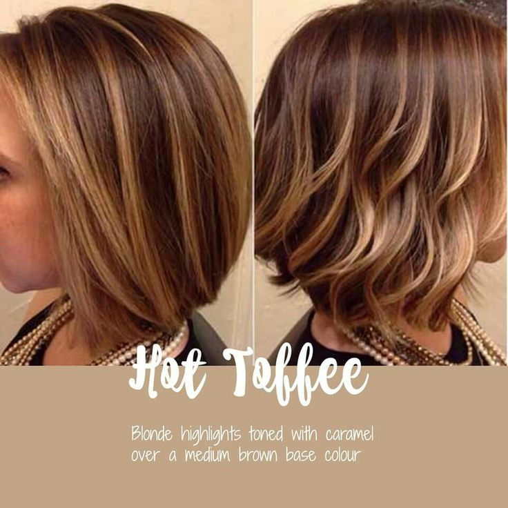 MEDIUM BROWN BASE with Blonde Highlights Toned with Caramel