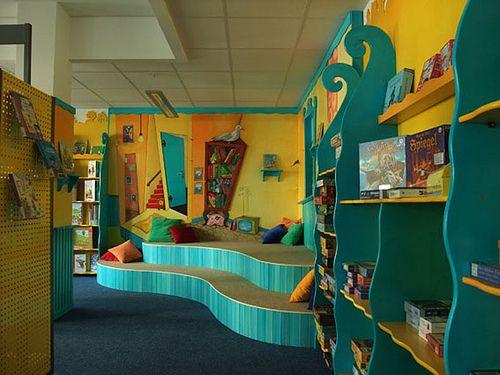 Bücherhalle Elbvororte, Kinderecke von rechts | Flickr - Photo Sharing!