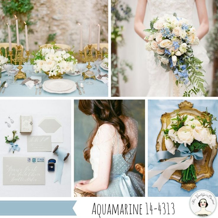 Aquamarine Wedding Inspiration Top 10 Wedding Colours for Spring 2015 from Pantone