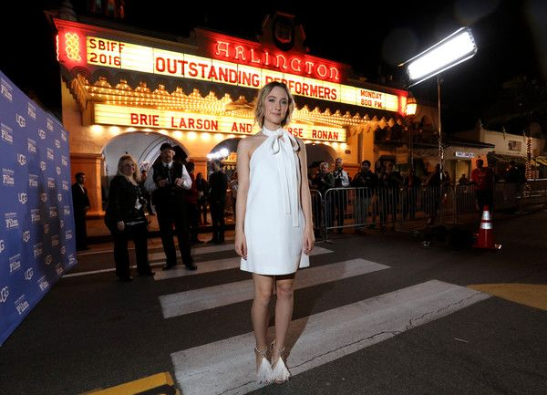 "Saoirse Ronan Photos Photos - Actress Saoirse Ronan of ""Brooklyn"" attends the Outstanding Performer of the Year ceremony at the Arlington Theater during the 31st Santa Barbara International Film Festival. on February 8, 2016 in Santa Barbara, California. - The 31st Santa Barbara International Film Festival - Outstanding Performer of the Year"