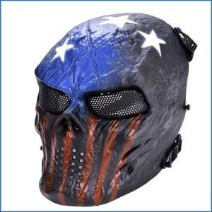 OUTGEEK Tactical Airsoft Mask Full Face Costume