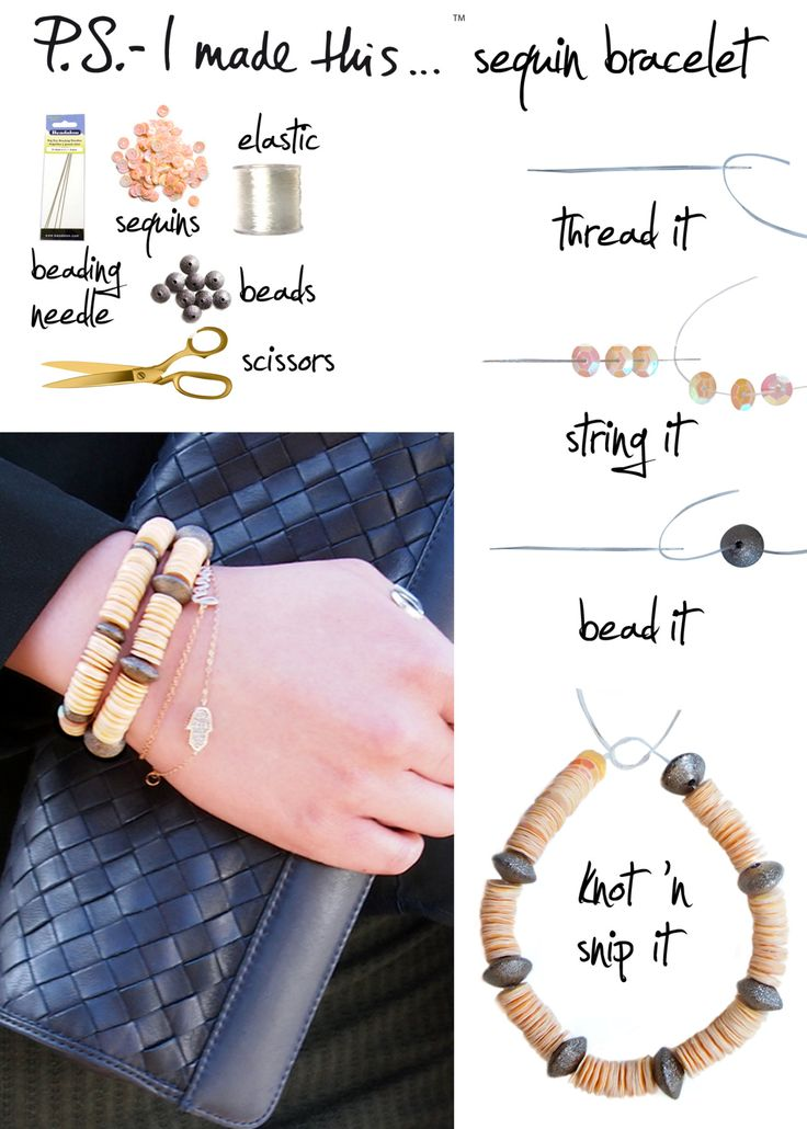P.S I made this bracelet tutorial. Make your own DIY jewelry using