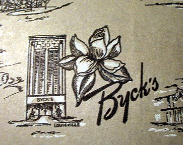 Byck Bros. & Co. ( Byck's) 1904-1988 - A very high end ladies clothing store in Louisville, Ky that was often described as fashion forward and presented trunk shows of current designers. And Byck's was also ahead of the times in being one of the first downtown stores to have integrated dressing rooms.