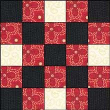 This is the Double Irish Chain quilt pattern.  There's also Single and Triple.  I can think of all kinds of fun things to do with this.  I don't know if I'll ever get around to it, though.  So many patterns -- so little time!
