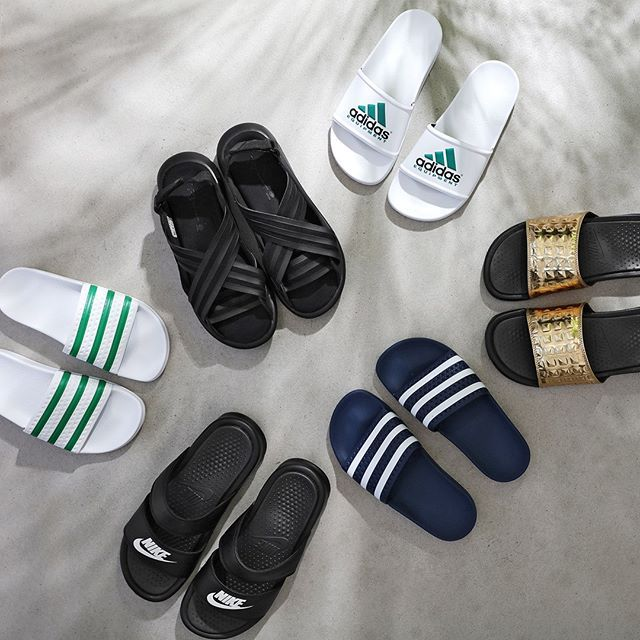 #mulpix SUMMERTIME!  The white Adidas Adilette Equipment Core Black Y-3 Qasa…
