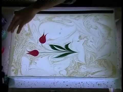 ▶ Ebru Yapımında Tekne ve Boya Ayarları - İbrahim Sami Özen - YouTube