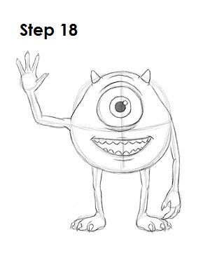 How to Draw Mike Wazowski 18