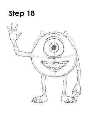 How to Draw Mike Wazowski 18