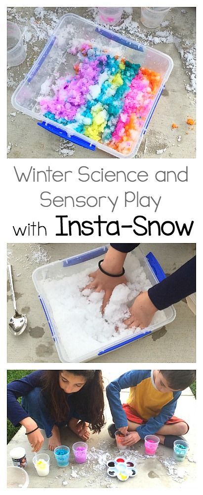 "Winter Science Activity for Kids with Insta-Snow: Make your own ""snow"" with nontoxic Insta-Snow powder. Use it for sensory play, color mixing, or as a STEM or STEAM activity for winter. Explore osmosis, polymers, and evaporation! ~ BuggyandBuddy.com via @https://www.pinterest.com/cmarashian/boards/"